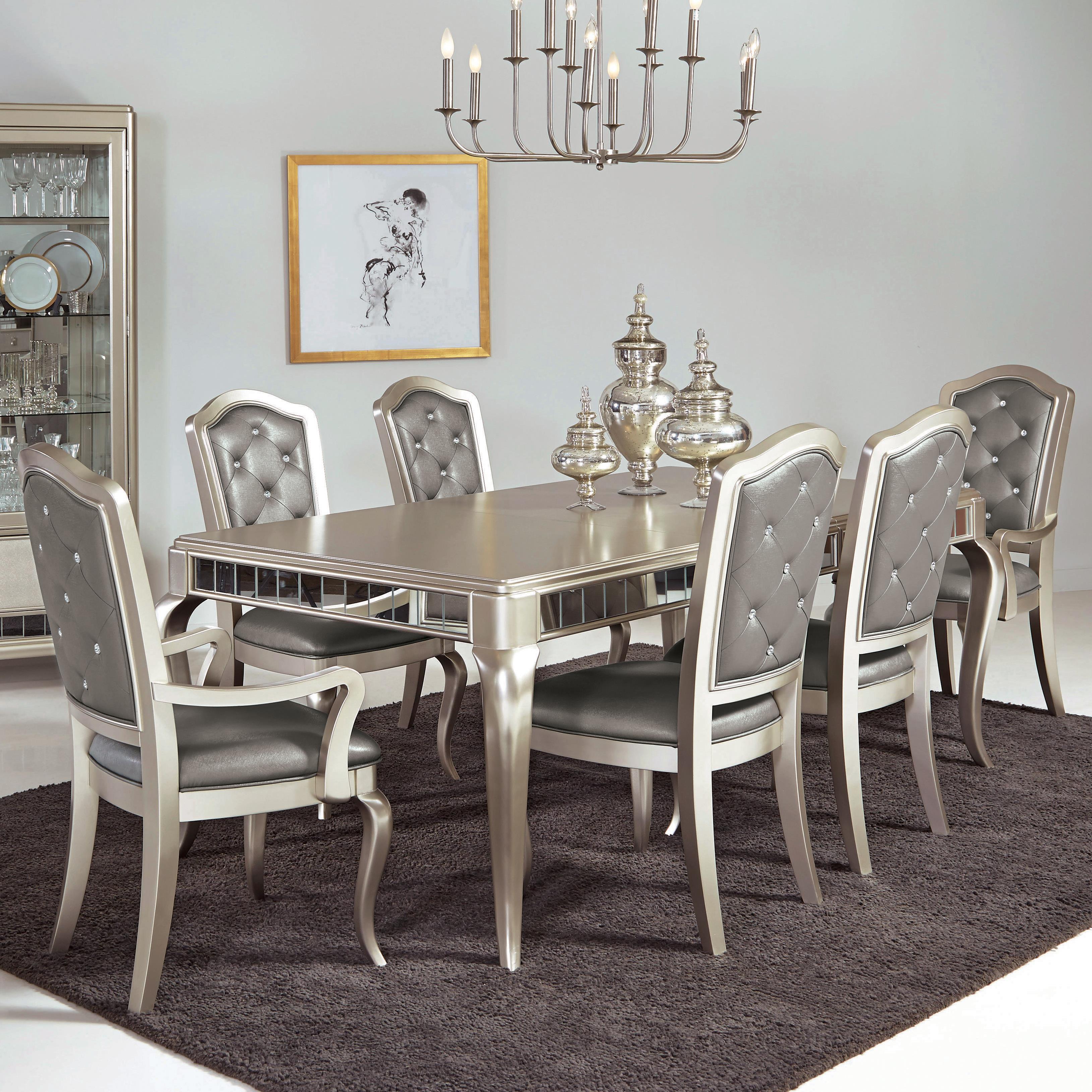 Samuel Lawrence Diva 7 Pc Table Amp Chair Set Royal