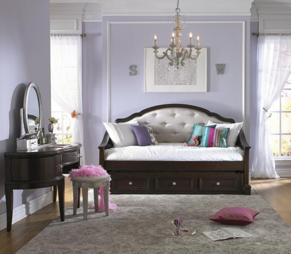 Samuel Lawrence Glamour Rhinestone Tufted Daybed Withtrundle