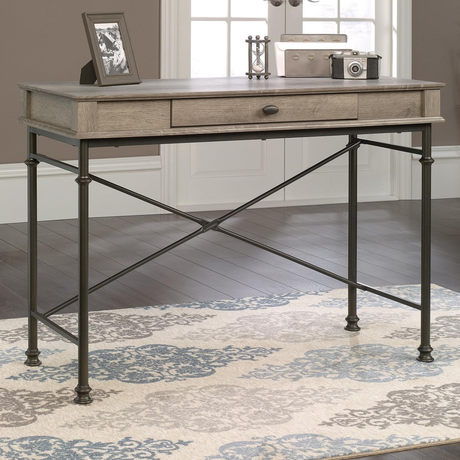 Sauder Canal Street 419231 Console Desk With Flip Down