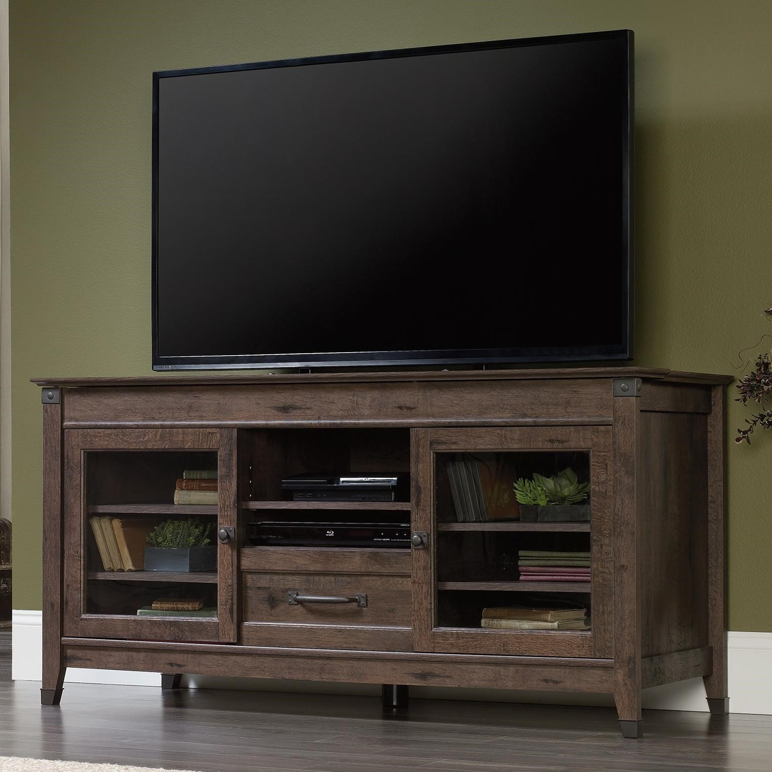 Sauder Carson Forge Rustic Style Entertainment Credenza