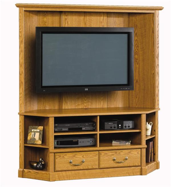 Sauder Orchard Hills 403818 Corner Entertainment Credenza Becker Furniture World Tv Stands