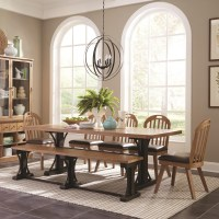 Scott Living Bishop French Farmhouse Dining Table Set with ...