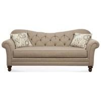 Hughes Furniture 8750 Sofa with Diamond Tufted Back ...