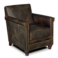 Hooker Furniture Club Chairs Potter Leather Club Chair ...