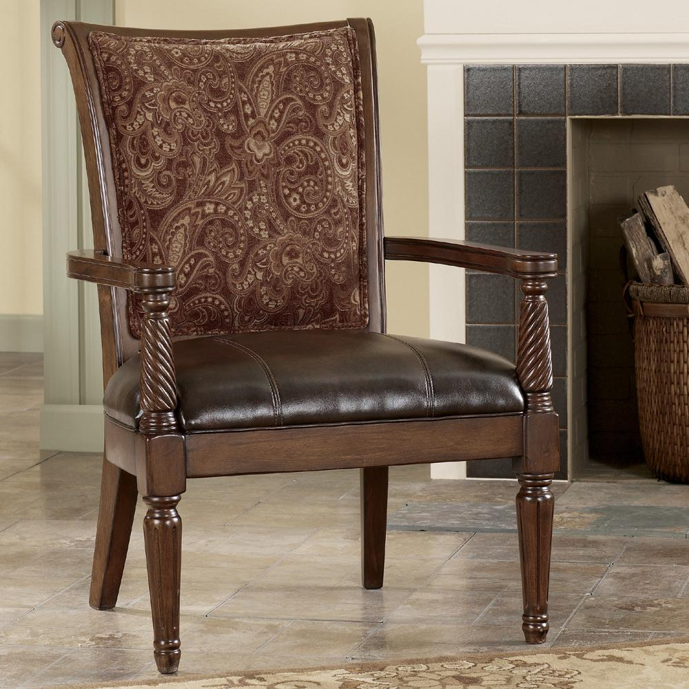 Antique Accent Chairs Signature Design By Ashley Barcelona Antique Showood Accent