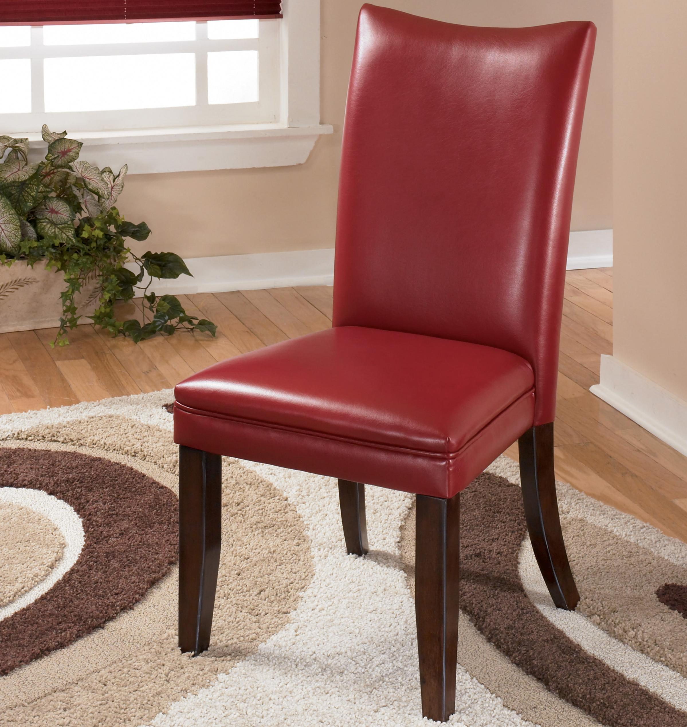Signature Design by Ashley Charrell Red Upholstered Dining