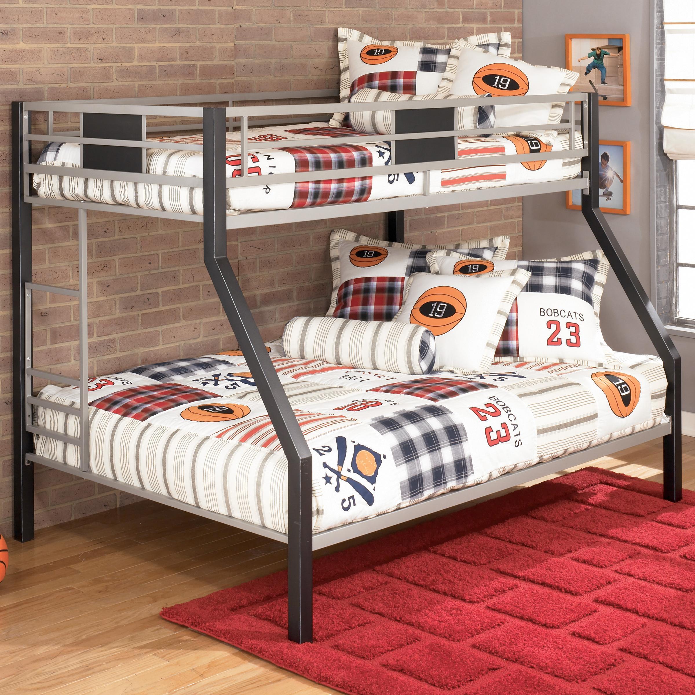Vendor 3 Dinsmore B106 56 Twin Over Full Metal Bunk Bed Becker Furniture Bunk Beds