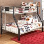 Signature Design By Ashley Dinsmore Twin Over Full Metal Bunk Bed Royal Furniture Bunk Beds