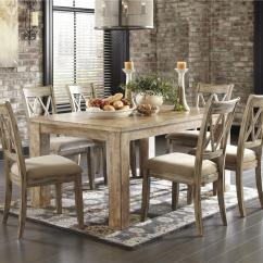 Antique White Dining Chairs High Top Patio Table And Signature Design By Ashley Mestler 5 Piece Set With Chr