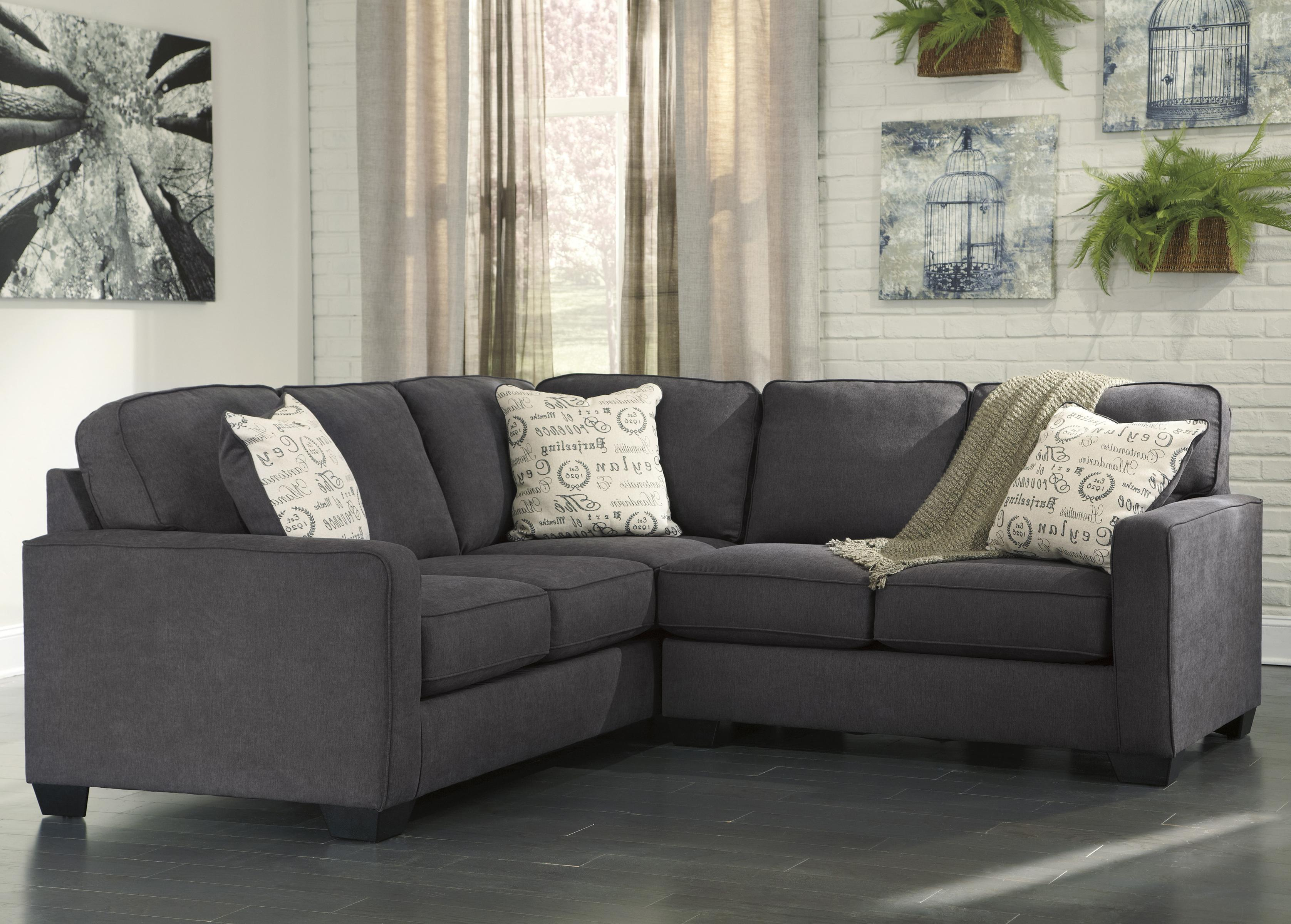 Signature Design By Ashley Alenya Charcoal 2 Piece Sectional With Right Loveseat Royal