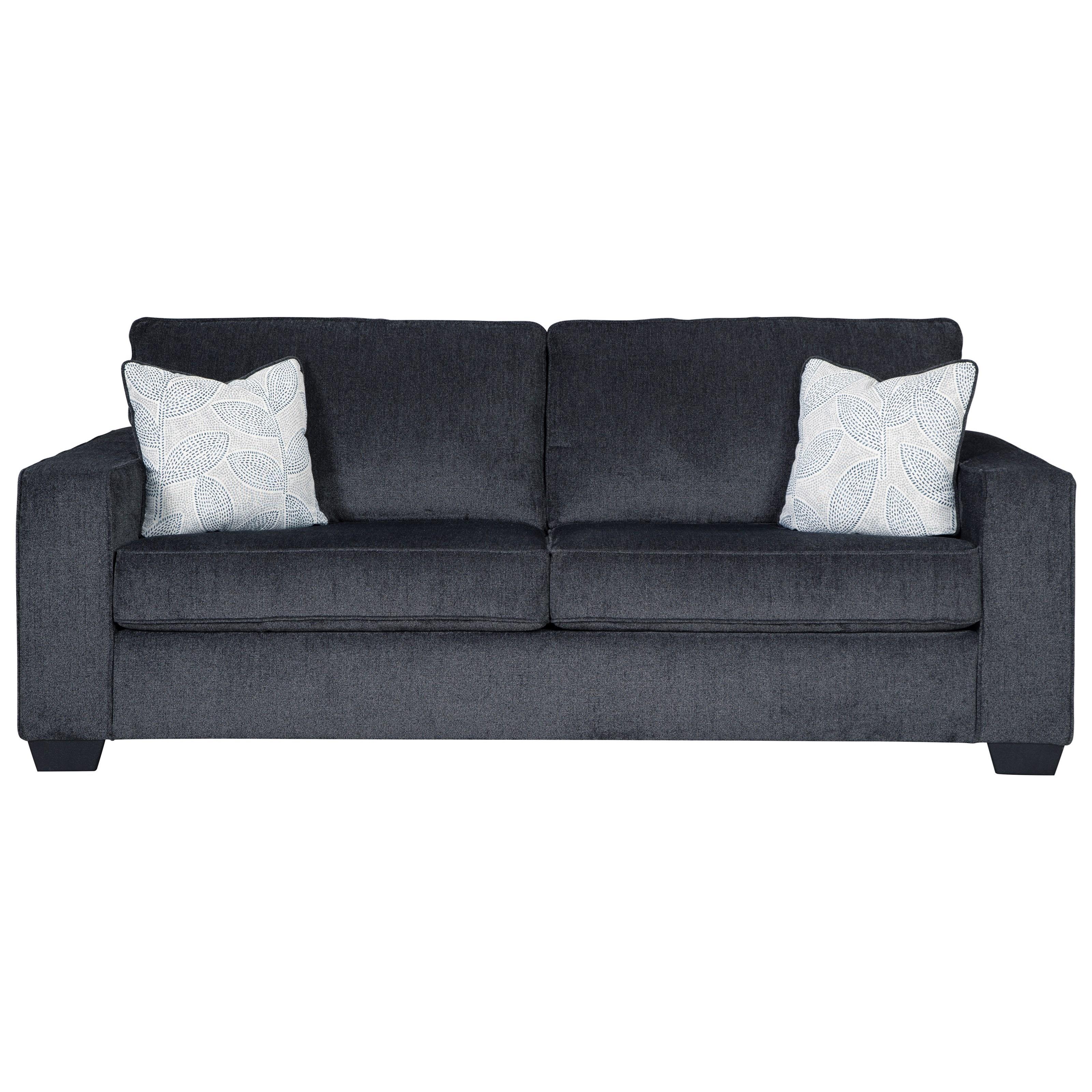 foam sofa sleeper ikat signature design by ashley altari queen with memory