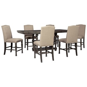 Audberry Transitional Counter Height Dining Table With