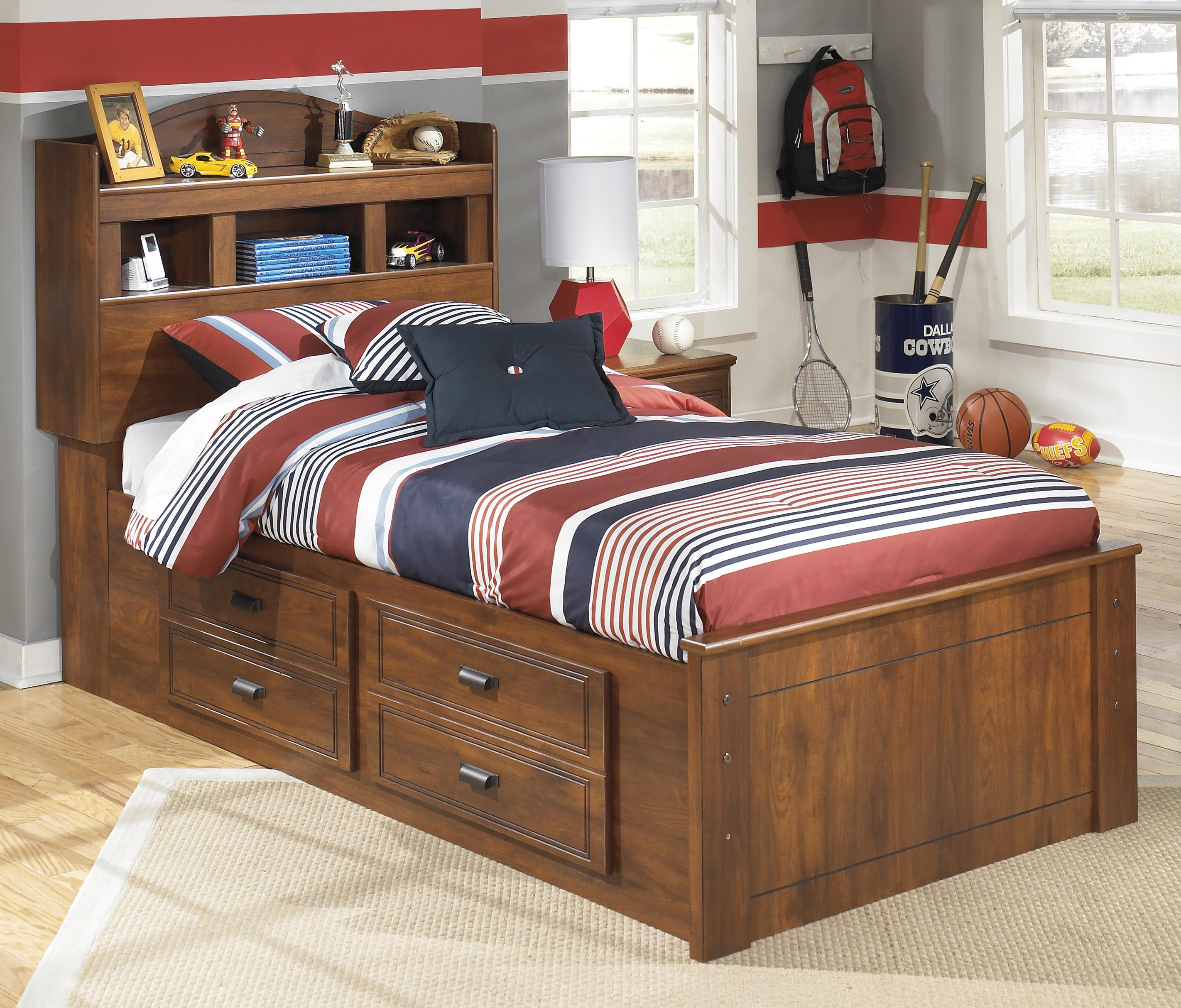 Barchan Twin Bookcase Bed With Underbed Storage