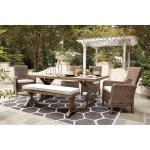 Signature Design By Ashley Beachcroft 6 Piece Outdoor Dining Set Value City Furniture Outdoor Dining Sets