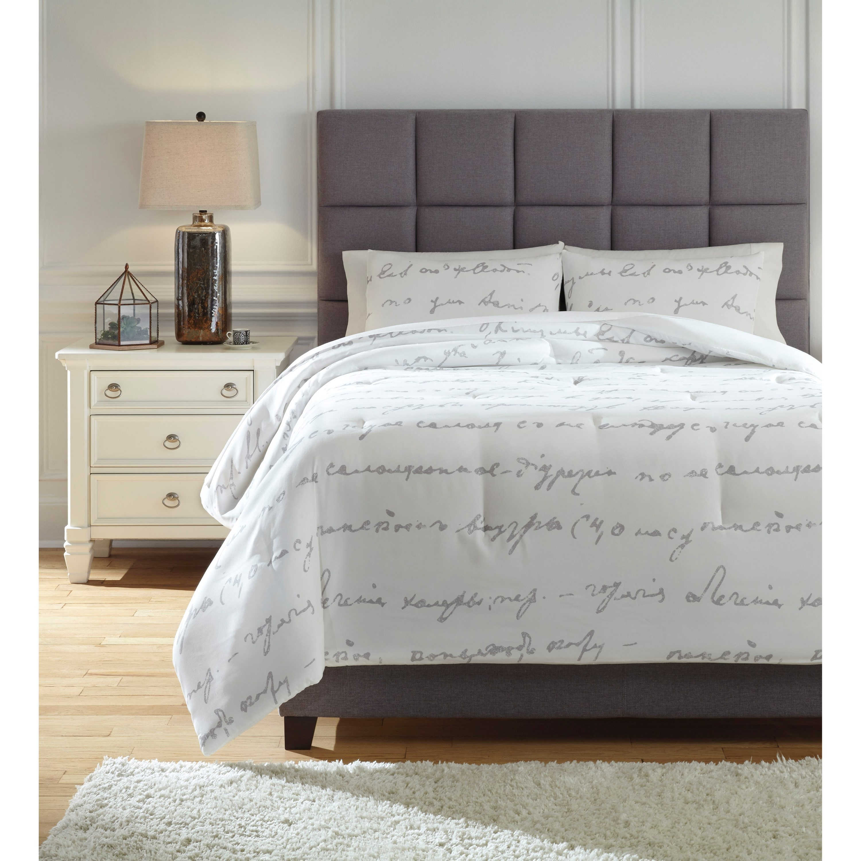 bedding sets queen adrianna white gray comforter set