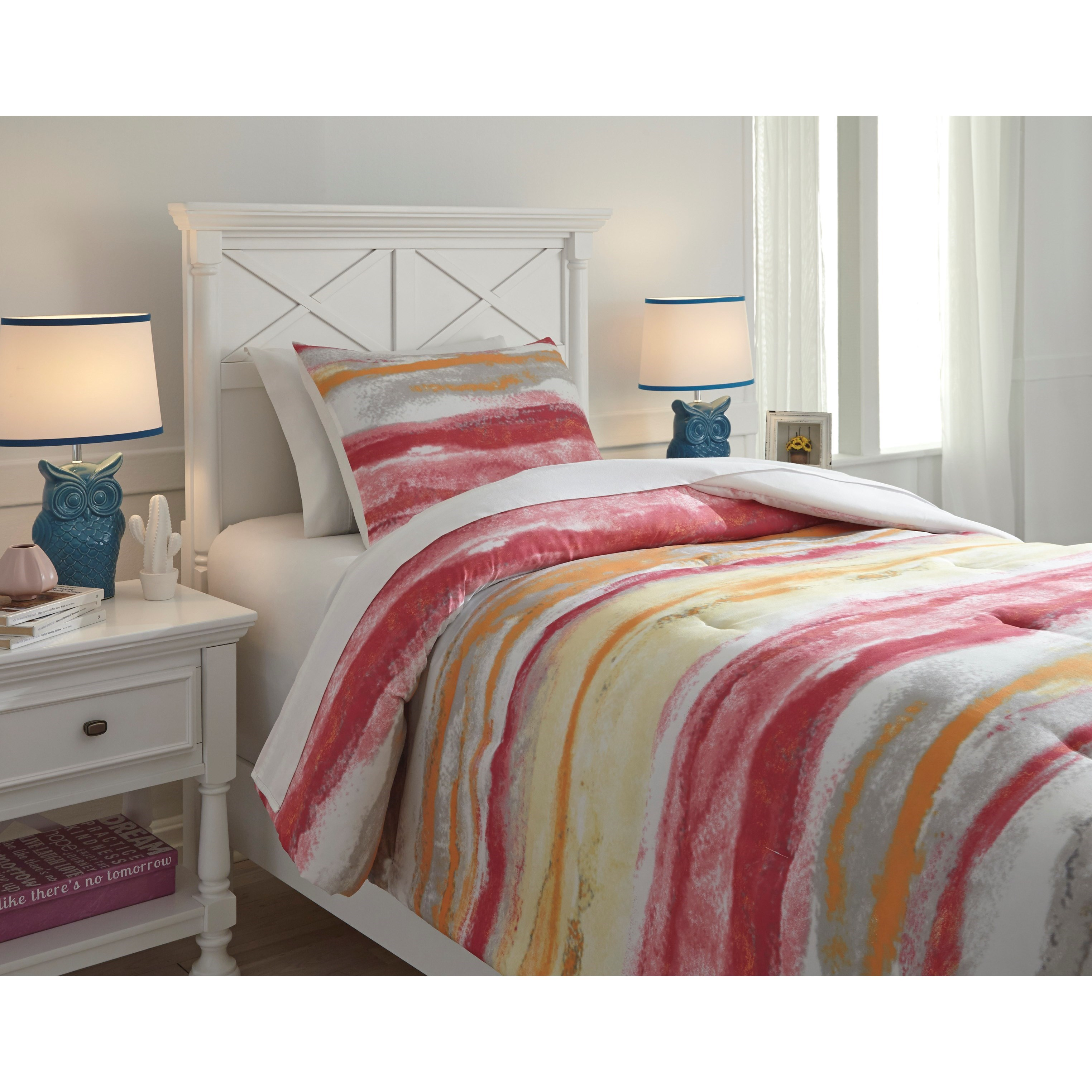 Ashley (Signature Design) Bedding Sets Twin Tammy Pink