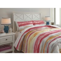 Ashley (Signature Design) Bedding Sets Full Tammy Pink