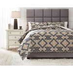 Ashley Signature Design Bedding Sets Q473003q Queen Scylla Brown Black Comforter Set Dunk Bright Furniture Bedding Sets