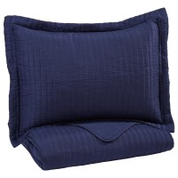 Signature Design by Ashley Bedding Sets Twin Raleda Navy ...
