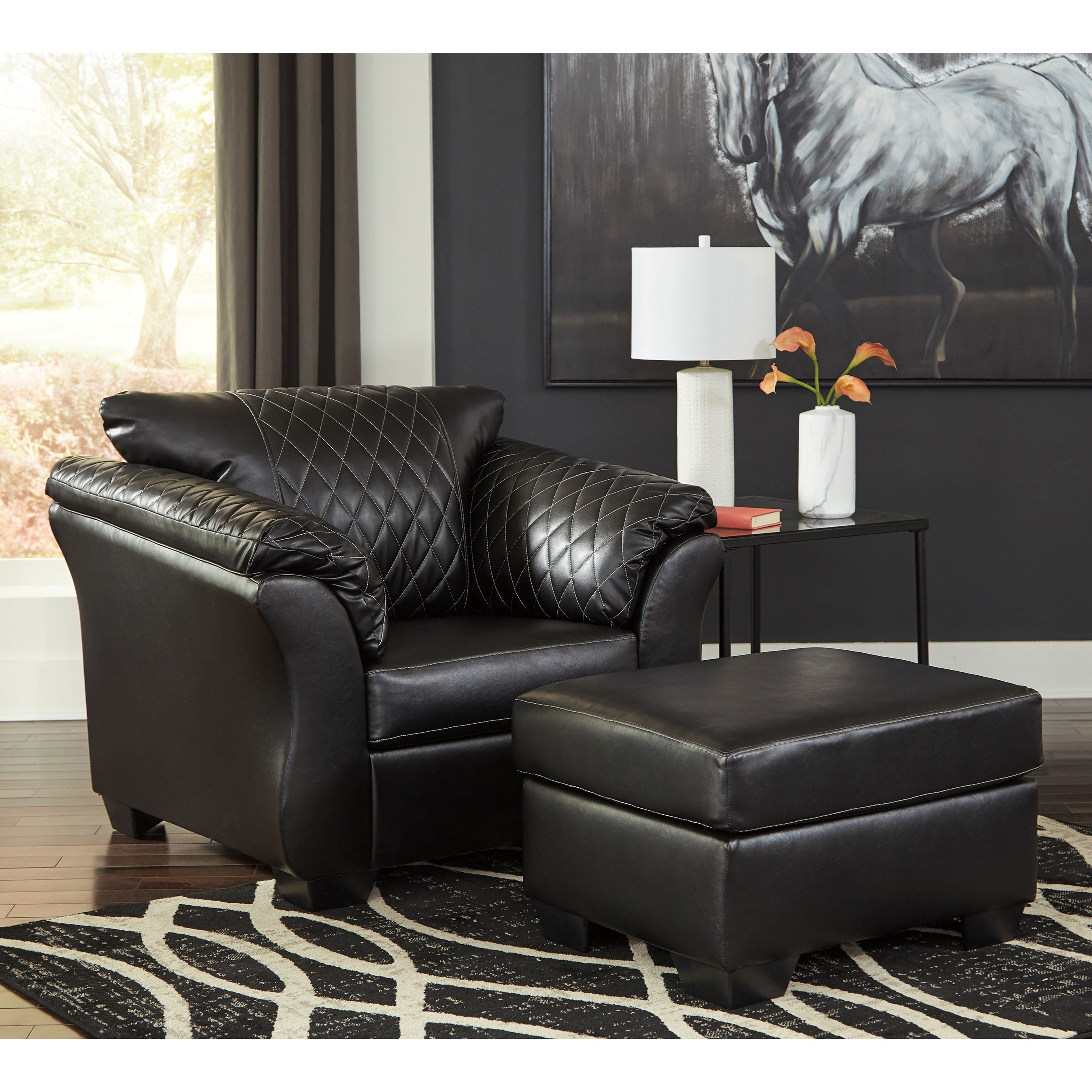 Chair And Ottoman Set Betrillo Contemporary Chair And Ottoman Set By Signature Design By Ashley At Royal Furniture