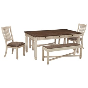 table and chairs with bench restaurant metal chair sets ruby gordon home set