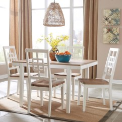 Farmhouse Table And Chairs With Bench Rustic Dining Signature Design By Ashley Brovada Contemporary White Light Wash 5 Piece Rectangular Set