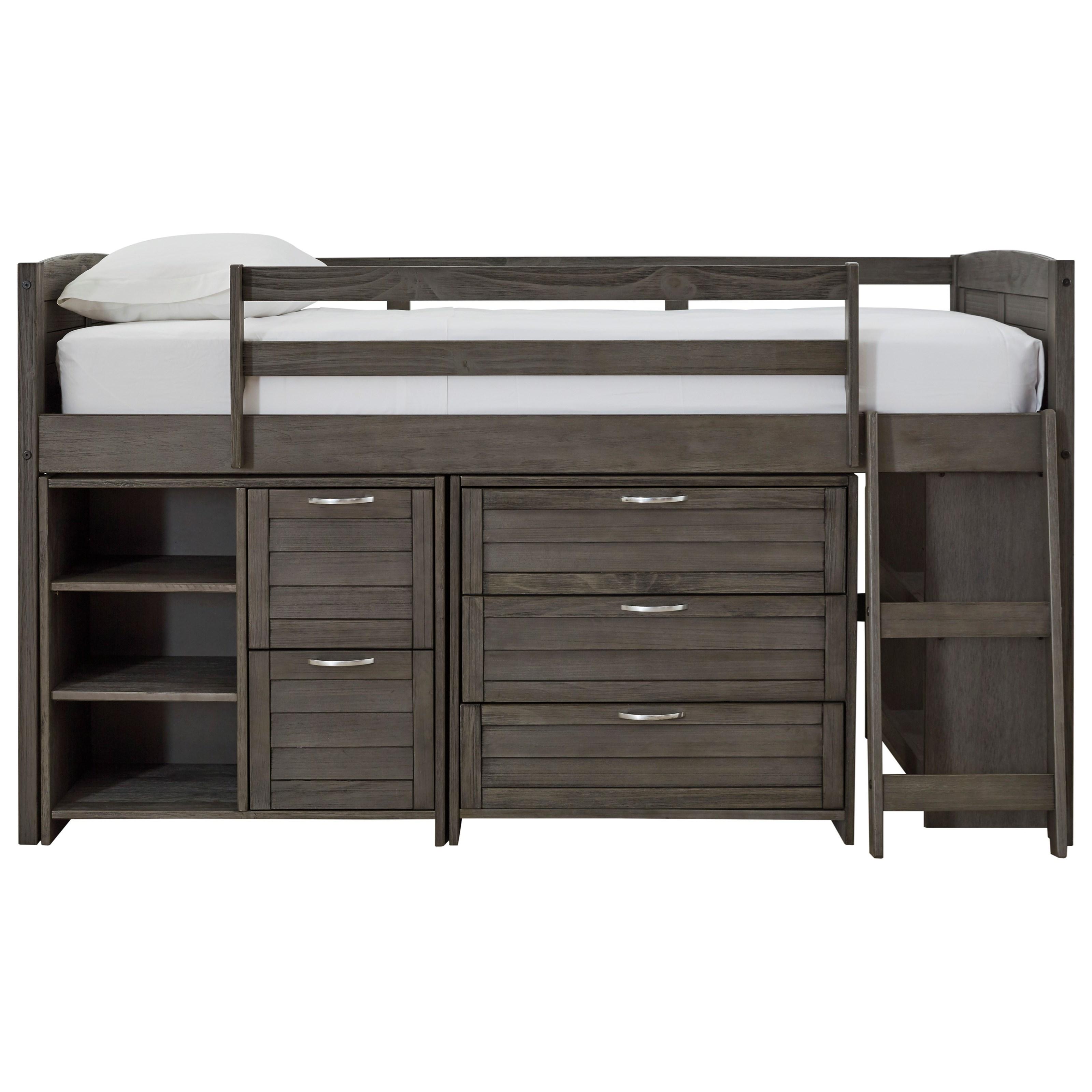 twin loft bed with loft storage