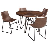 Signature Design by Ashley Centiar 5-Piece Round Dining ...