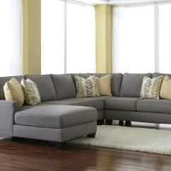 Sofa W Chaise Sectional Measurements Signature Design By Ashley Chamberly Alloy Modern 4 Piece With Left