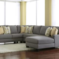 Sofa W Chaise Faux Leather Sofas For Sale Signature Design By Ashley Chamberly Alloy Modern 4 Piece Sectional With Right
