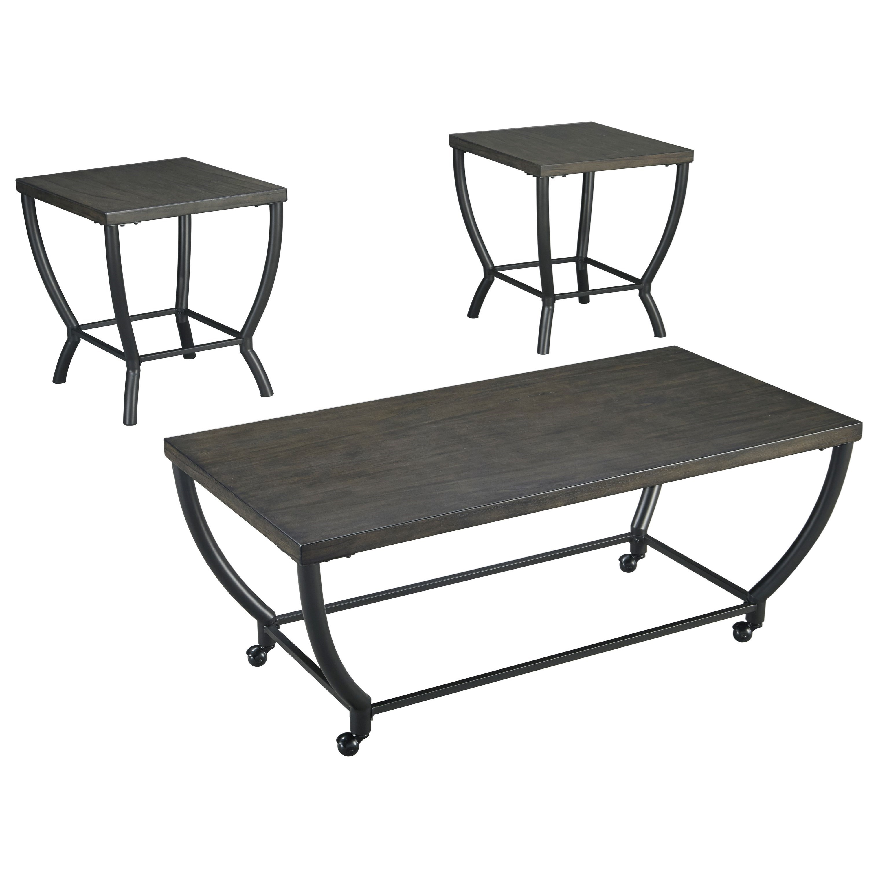 Signature Design By Ashley Champori Contemporary Occasional Table Set Wayside Furniture