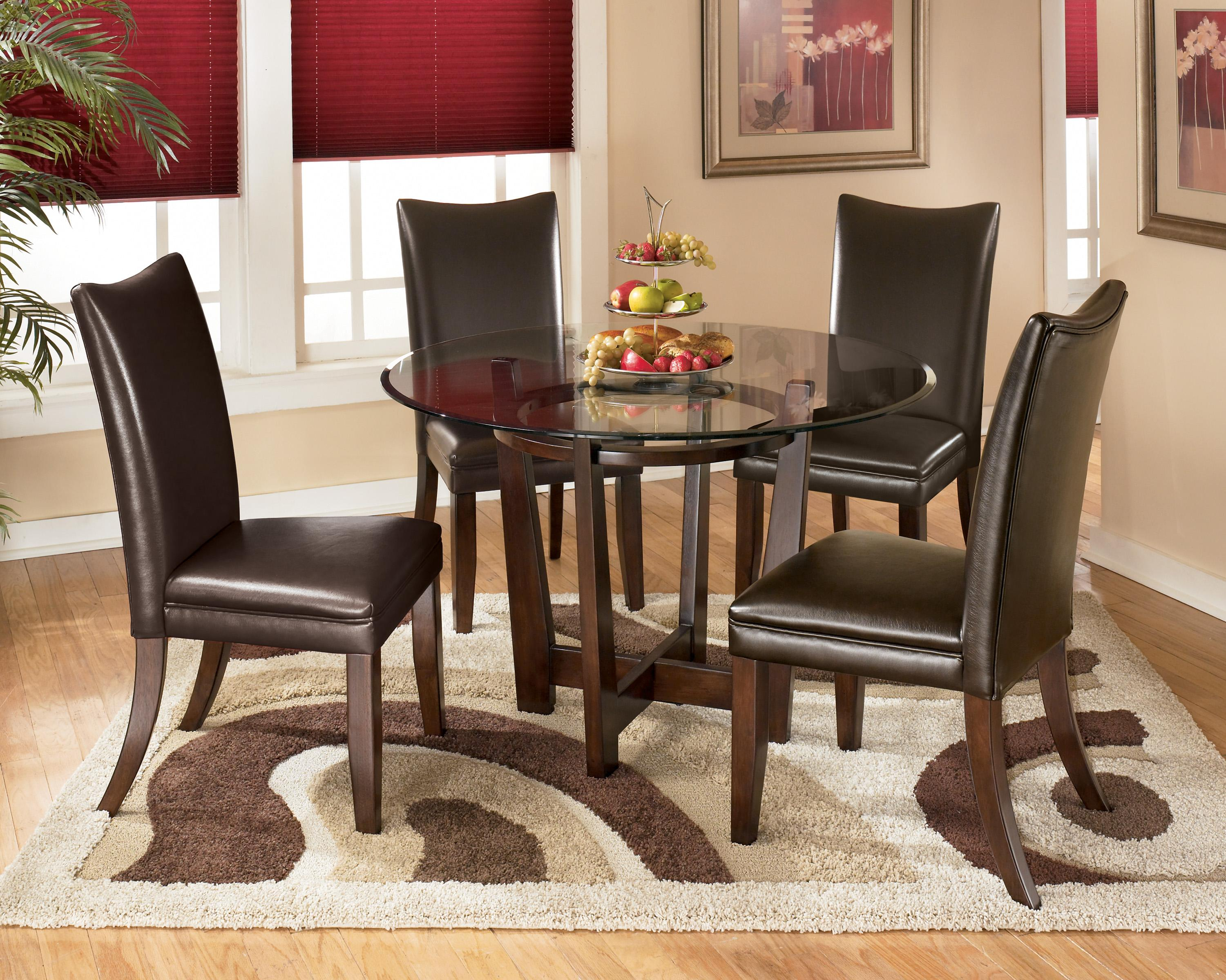 round kitchen table and chairs set best leather chair signature design by ashley charrell 5 piece dining