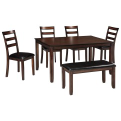 Dining Table And Chair Sets Aarnio Ball Signature Design By Ashley Coviar D385 325 Burnished Brown 6 Piece Room Set