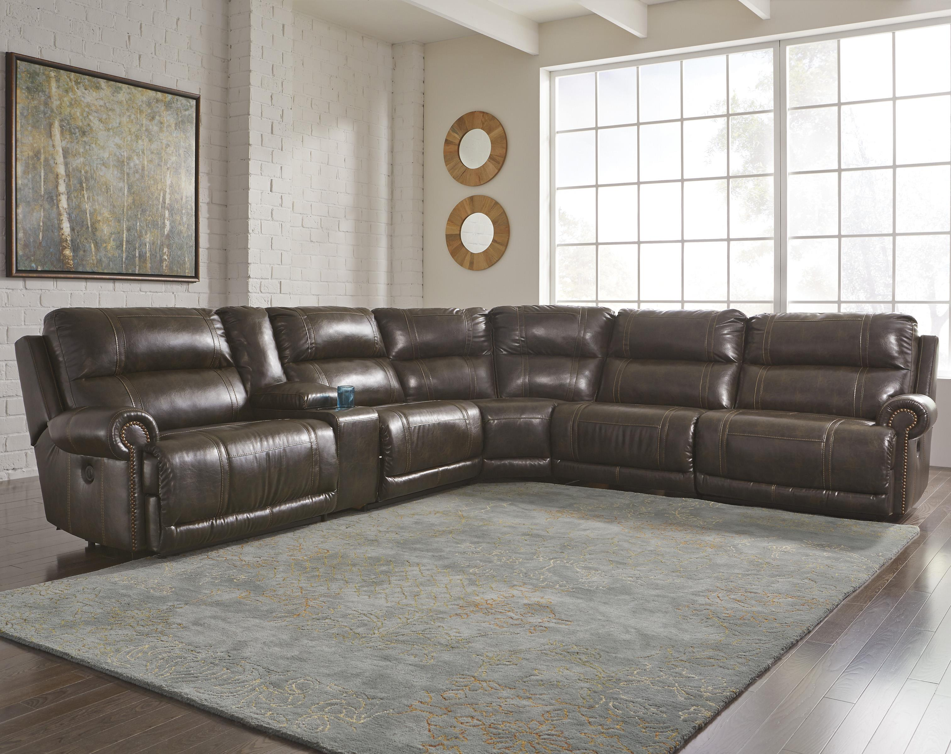 sofa sectional ashley durablend macy s bed signature design by dak durablend® 6-piece power ...