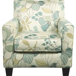Floral Print Accent Chairs Black Rocking Signature Design By Ashley Daystar Seafoam 2820021 Contemporary Chair With Fabric