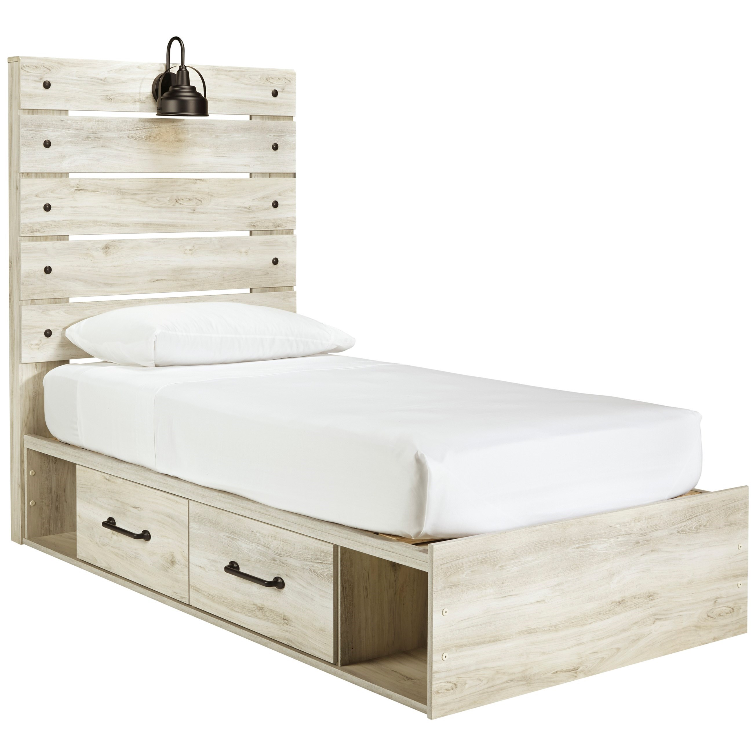 cambeck twin storage bed with 2 drawers