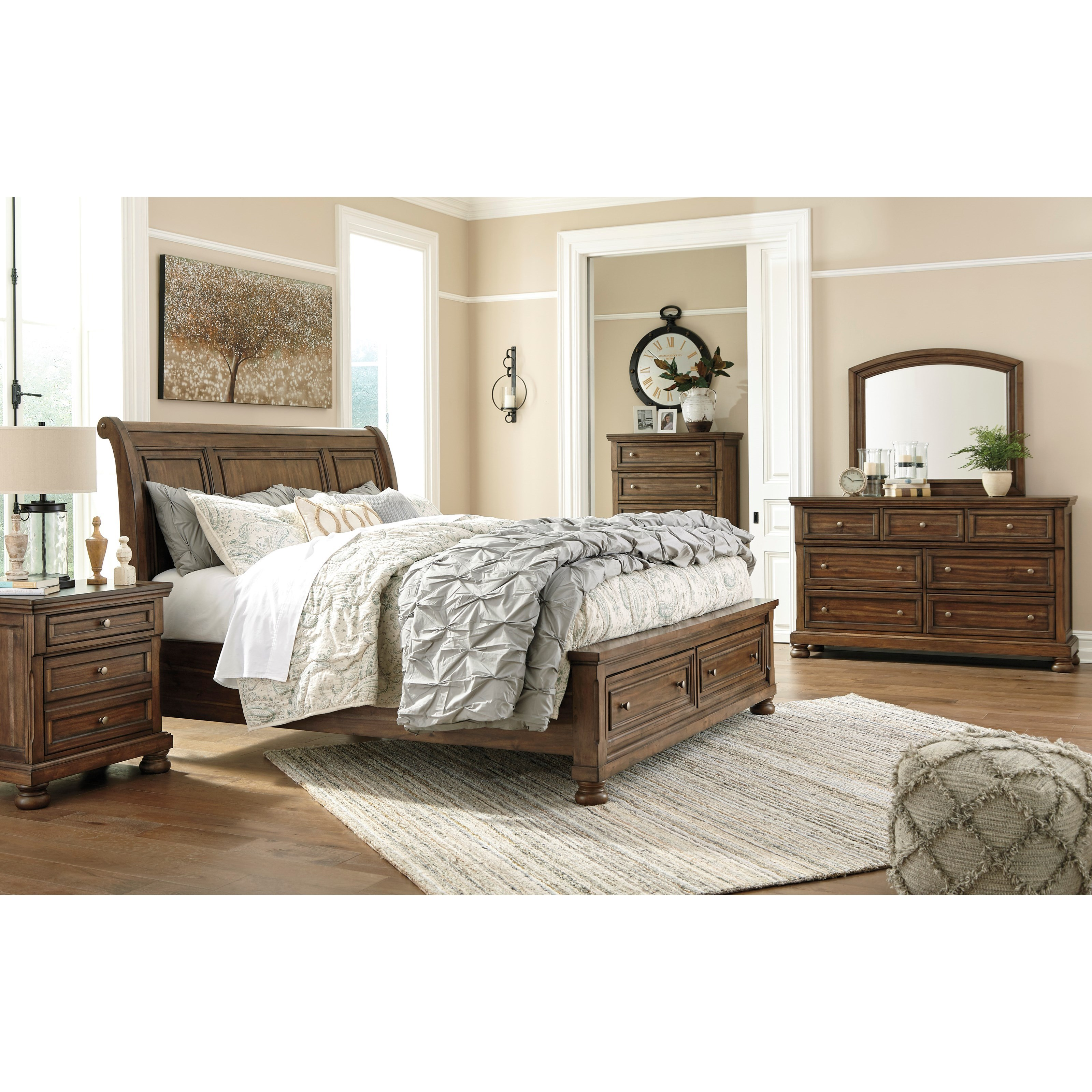 Ashley Signature Design Flynnter Queen Bedroom Group