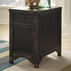 Chair Side Tables With Storage Universal Covers Ebay Signature Design By Ashley Baker T732 7 Distressed End Table Accent Cabinet