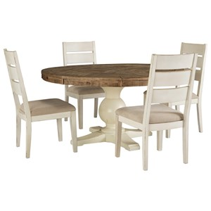round table and chairs set g plan chair sets miskelly furniture 5 piece