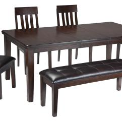 4 Chair Dining Set Target Pink Signature Design By Ashley Haddigan 6 Piece Rectangular Room Table And Bench