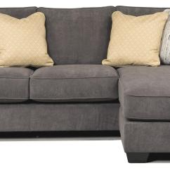 Ashley Furniture Modern Sofa Grey Leather Corner Chesterfield Signature Design Hodan Marble 7970018 Contemporary Chaise