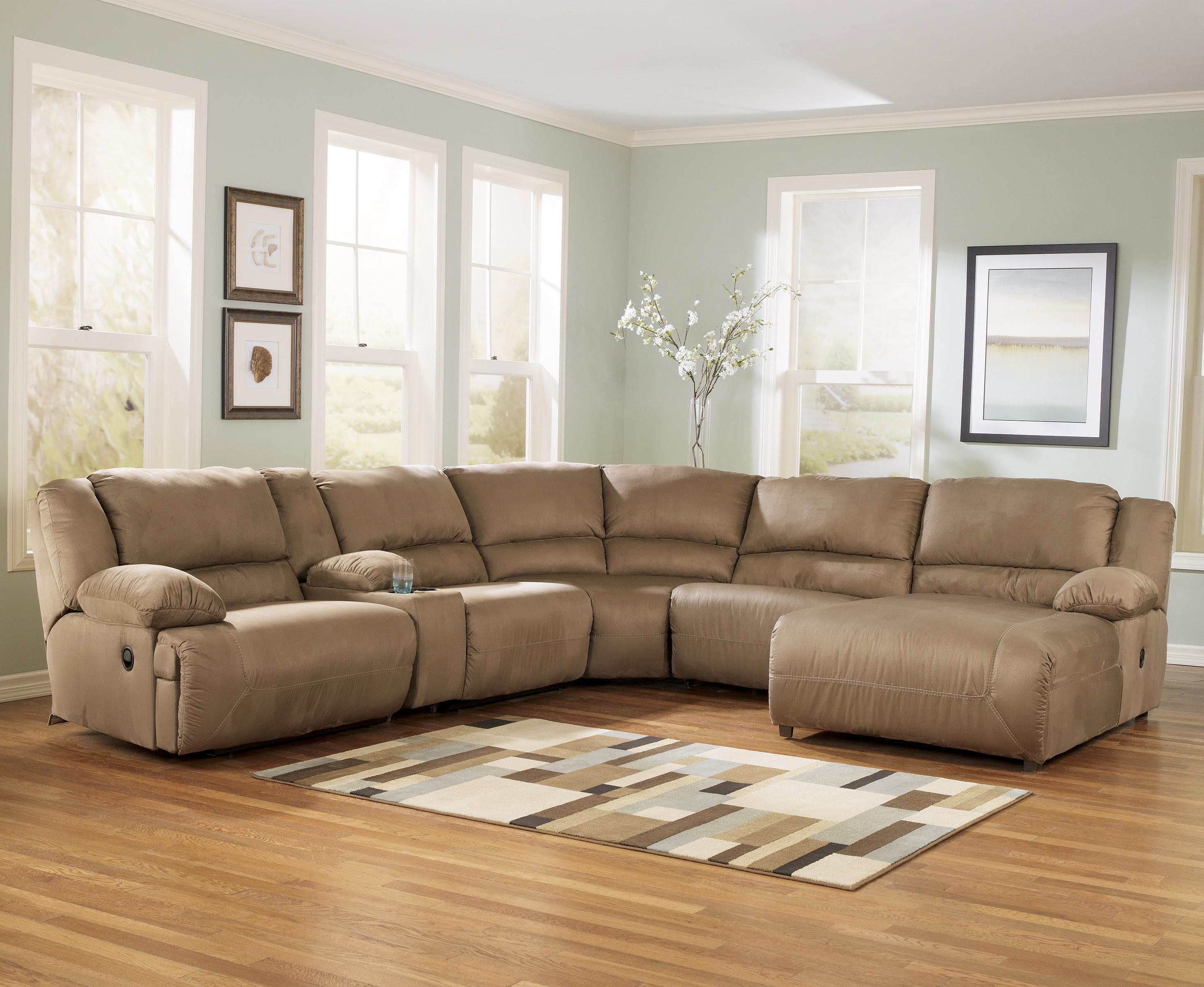 sectional sofa designs for living room light fixture ideas ashley signature design hogan mocha 6 piece motion with group