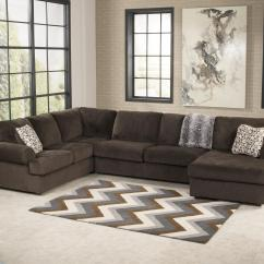 Sectional Sofa Designs For Living Room Good Paint Colors Signature Design By Ashley Jessa Place Chocolate Casual With Right Chaise