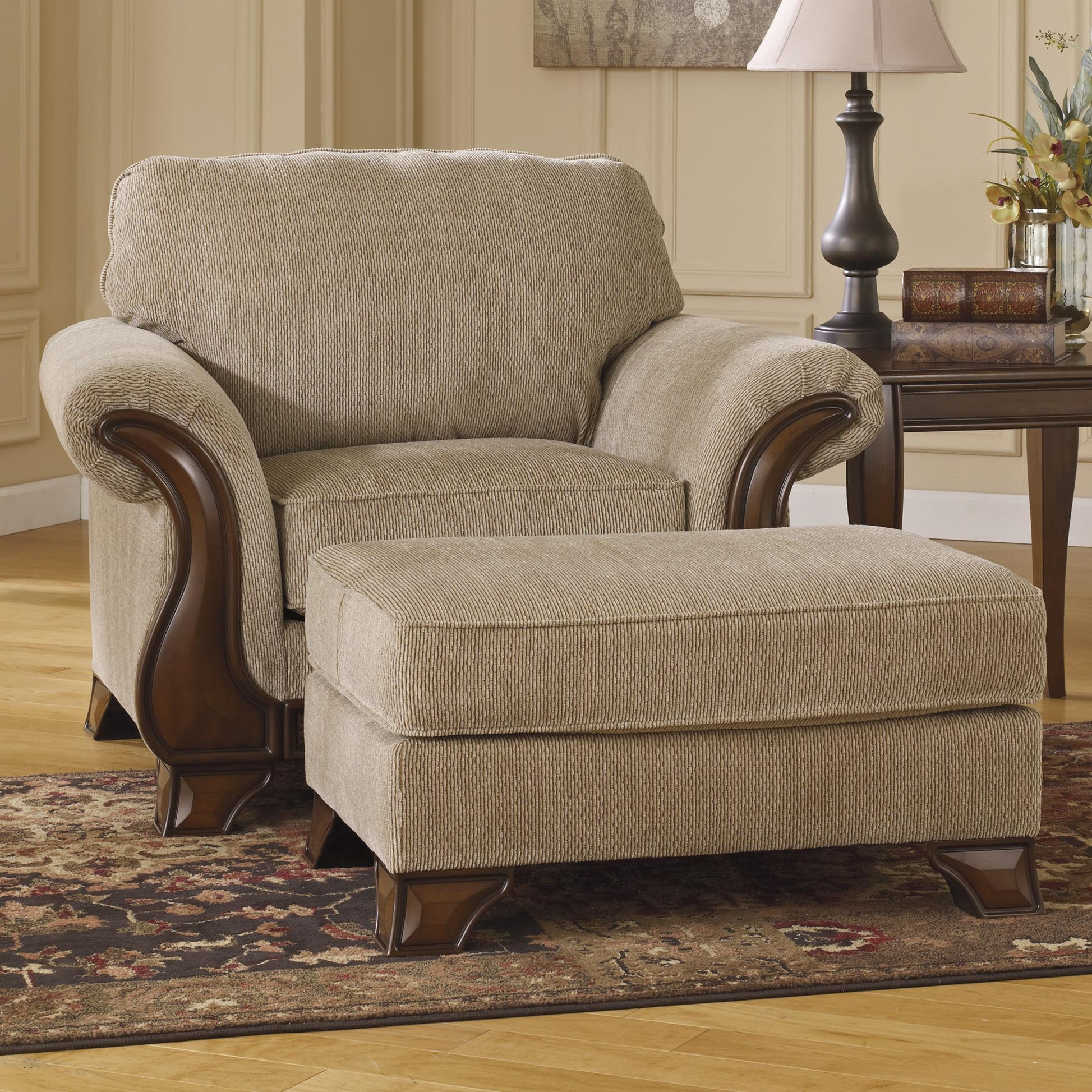 Ashley Signature Design Lanett Chair  Ottoman with