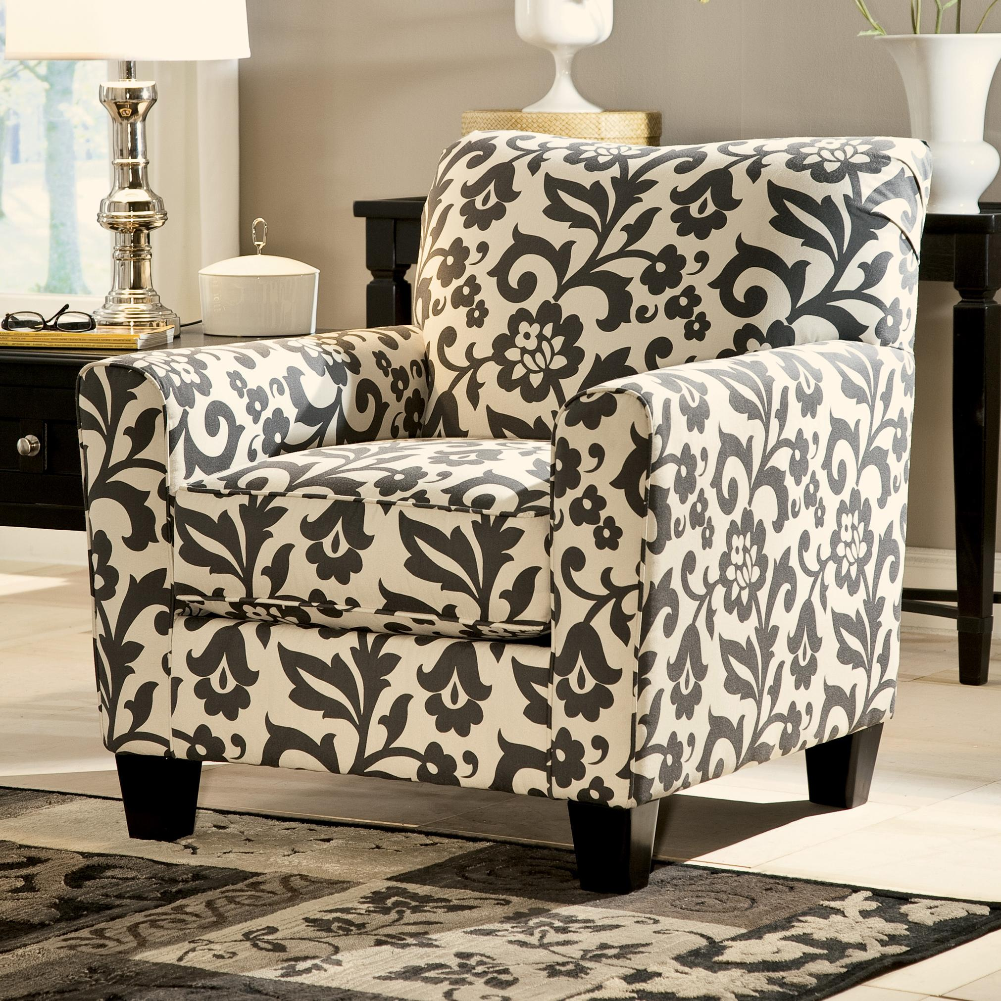 Ashley Chairs Levon Charcoal Accent Chair In Floral Print By Ashley Signature Design At Johnny Janosik