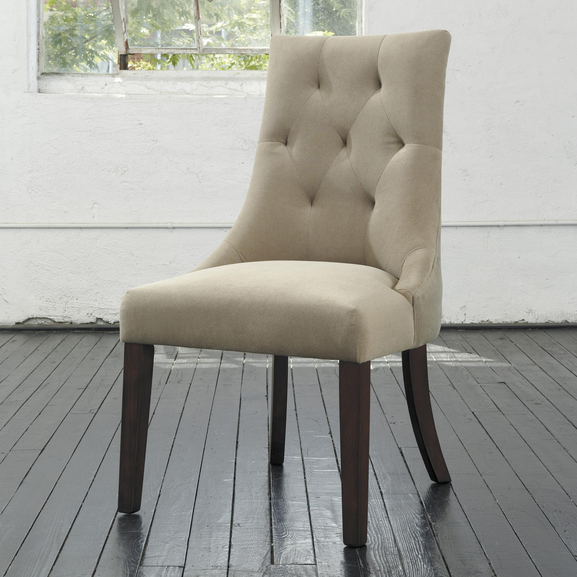 Ashley Chairs Mestler Dining Upholstered Side Chair With Button Tufting By Signature Design By Ashley At Furniture Fair North Carolina