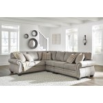 Signature Design By Ashley Olsberg 3 Piece L Shaped Transitional Sectional Royal Furniture Sectional Sofas