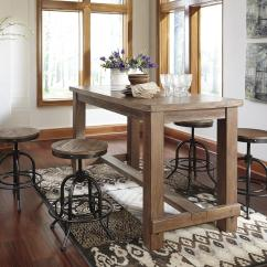 Bar Height Kitchen Table Sets Cheap And Chairs Pinnadel 5 Piece Counter Set With Industrial Style Adjustable
