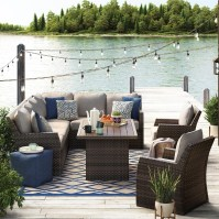 Signature Design by Ashley Salceda Outdoor Sectional with ...