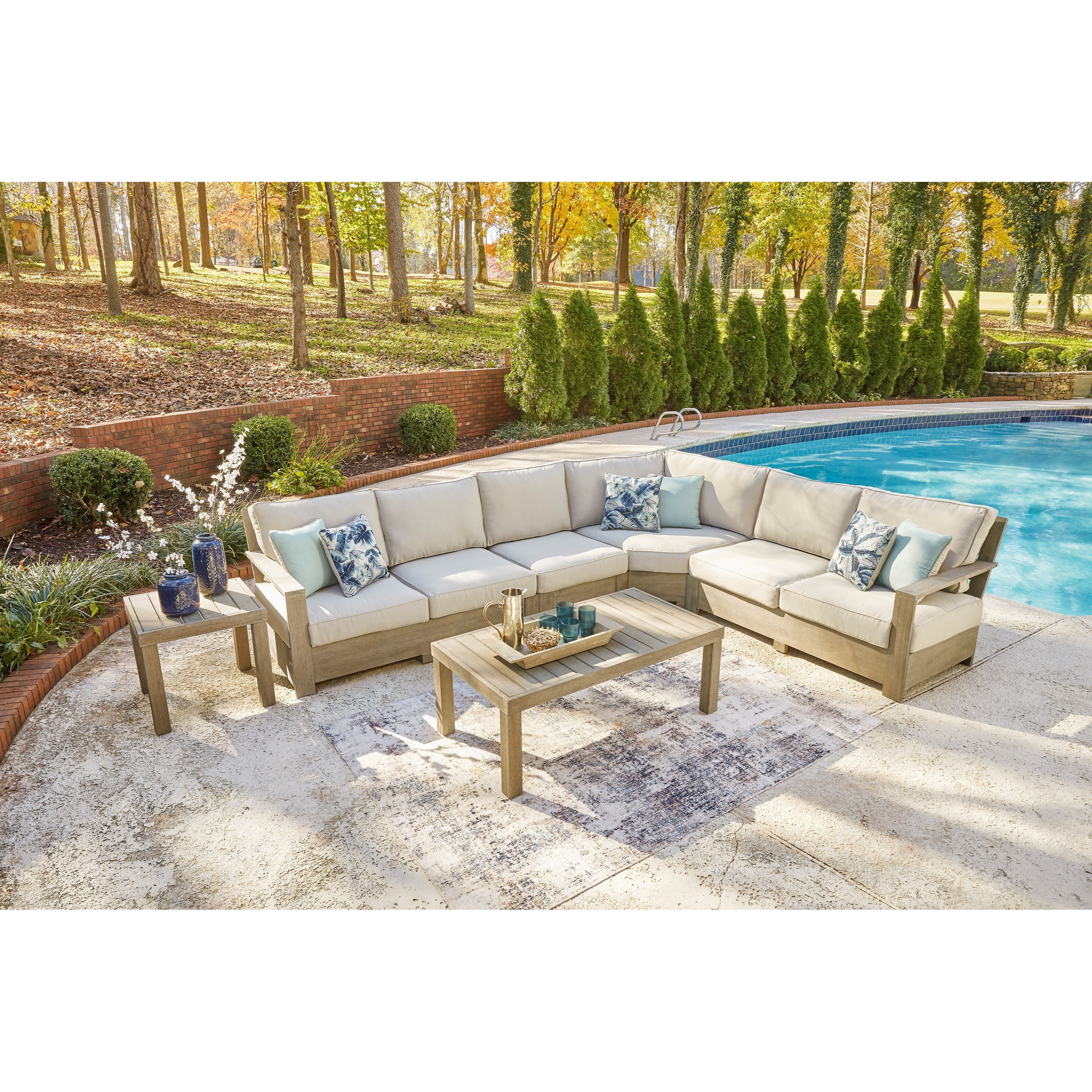 silo point outdoor sectional set with tables